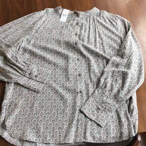 Loft long-sleeve blouse